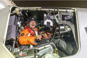 André Borschberg à bord de Solar Impulse.